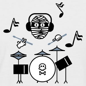 Sand/charcoal mummy drummer (3c) T-Shirts - Men's Baseball T-Shirt