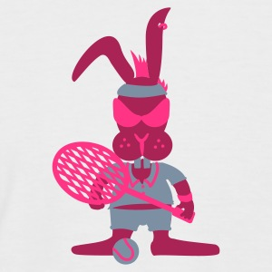 Weiß/navy Tennis bunny (3c) T-Shirts - Men's Baseball T-Shirt