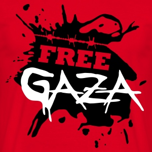 Red Free Gaza Men's Tees - Men's T-Shirt