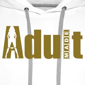 White Adult Made Jumpers - Men's Premium Hoodie