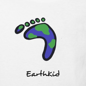 White Earthprint Kid's Shirts  - Kids' Organic T-shirt
