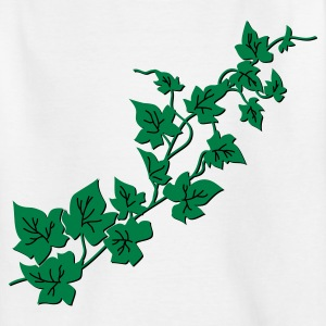 Weiß Efeu / Ivy Kinder Shirts - Teenager T-Shirt