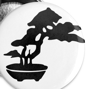 Sticker Bonsai - Buttons klein 25 mm