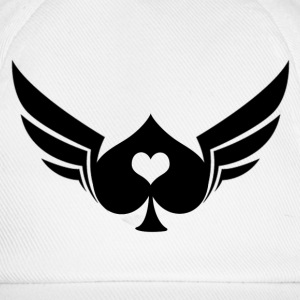 White/white Poker Wings Caps & Hats - Baseball Cap