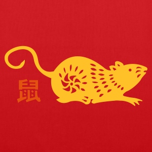 rata (astrología china - Bolsa de tela