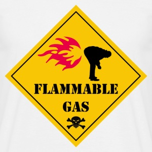 Blanc flammable gas T-shirts - T-shirt Homme