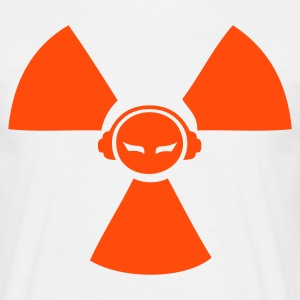 White Radioactive DJ symbol Men's Tees - Men's T-Shirt