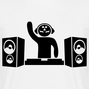 White Hardcore DJ Men's Tees - Men's T-Shirt