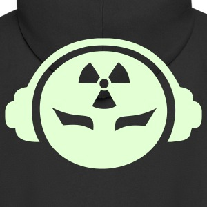 Black Radioactive DJ Coats & Jackets - Men's Premium Hooded Jacket