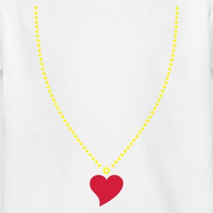 White Heart Necklace Kid's Shirts  - Teenage T-shirt
