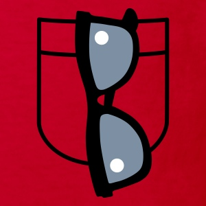 Rood Cool Glasses Kinder shirts - Kinderen Bio-T-shirt