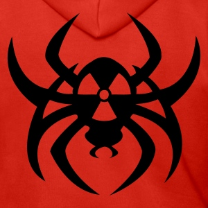 Red Radioactive spider Coats & Jackets - Men's Premium Hooded Jacket