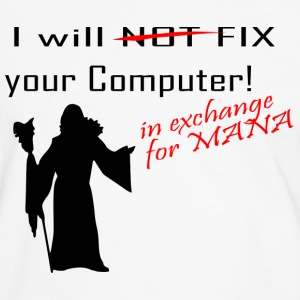 i will not fix you computer - Männer Kontrast-T-Shirt