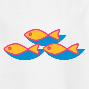 Weiß fische Kinder Shirts - Teenager T-Shirt
