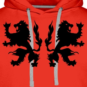 Red Double Griffin - Lions Jumpers - Men's Premium Hoodie