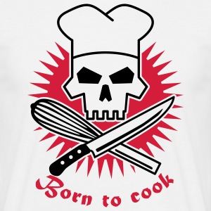 born_to_cook_2 T-shirts - Herre-T-shirt