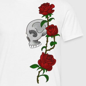 Skull and Roses - Men's T-Shirt