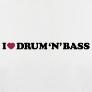 Design ~ I Love Drum & Bass Baseball Tee (Black/White)