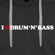 Design ~ I Love DnB Hoodie w/ zipper