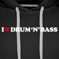 Design ~ I Love Drum & Bass Hoodie (Black)