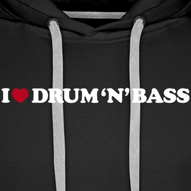 I Love Drum & Bass Hoodie (Black)