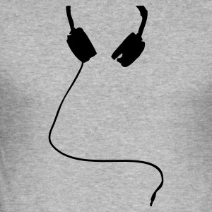Blended grey HEADPHONES ICON Jumpers - Men's Slim Fit T-Shirt