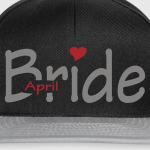 Black April Bride (wedding, honeymoon) Bags  - Snapback Cap