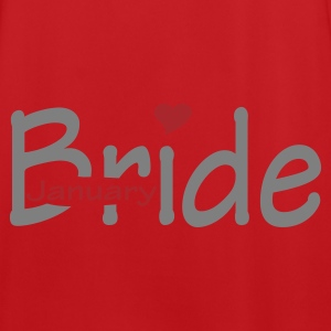 Red/white January Bride (wedding, Honeymoon) Bags  - Men's Football Jersey