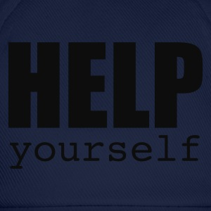 Navy HELP yourself Men's Tees - Baseball Cap