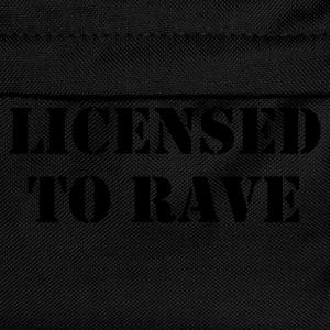 Black Licensed to Rave Men's Acid House T-Shirt - Kids' Backpack