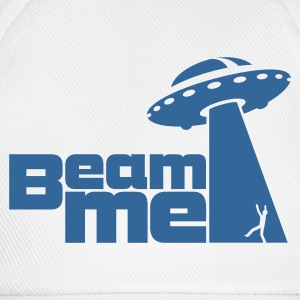 Weiß Beam me up! No.2 Buttons / Anstecker - Baseballkappe