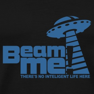 Schwarz Beam me up! (+Text) No.3 Pullover - Männer Premium T-Shirt