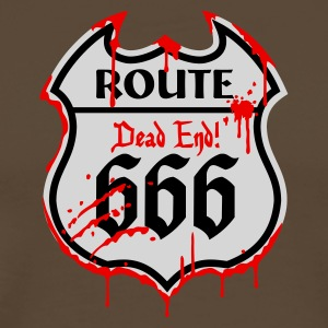 Chocolate Route 666 - Bloody Style_3c Langarmshirts - Männer Premium T-Shirt