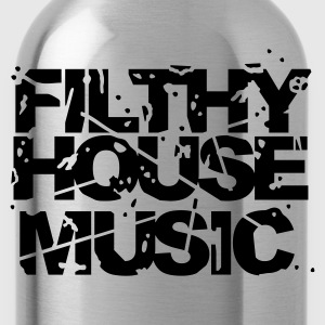 Black Filthy House Music Jumpers - Water Bottle