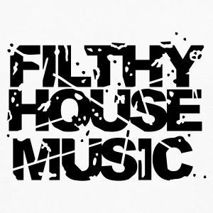 White Filthy House Music Jumpers - Men's Premium Longsleeve Shirt