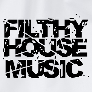 White Filthy House Music Jumpers  - Drawstring Bag