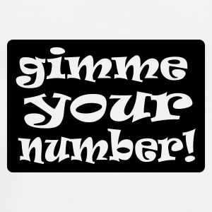 White gimme your number in box Mugs  - Men's Premium T-Shirt