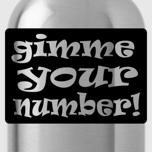 Red gimme your number in box Men's Tees - Water Bottle