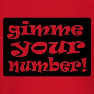 Red gimme your number in box Men's Tees - Baby Long Sleeve T-Shirt