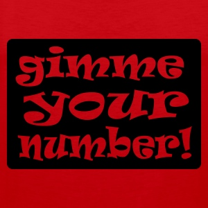 Red gimme your number in box Men's Tees - Men's Premium Tank Top