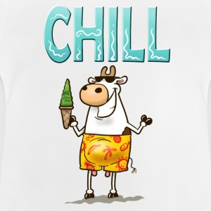 White Chill Cow Kid's Shirts  - Baby T-Shirt