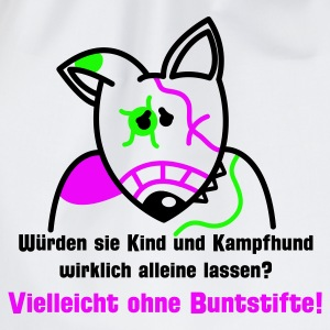 Weiß Bunter Bully Pullover - Turnbeutel