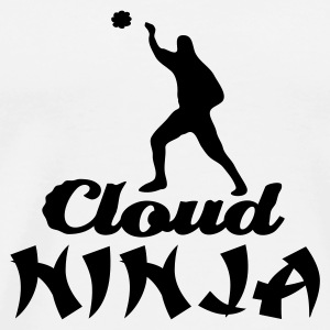 White Cloud Ninja Mugs  - Men's Premium T-Shirt