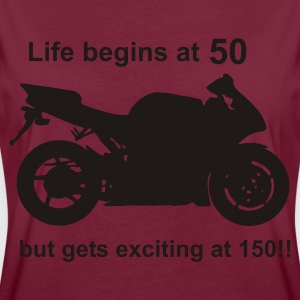 Life begins at 50  Aprons - Women's Oversize T-Shirt