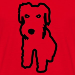 Red Schnauzer Jumpers  - Men's T-Shirt