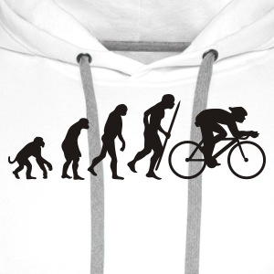 White Evolution of cycling Men's Tees - Men's Premium Hoodie