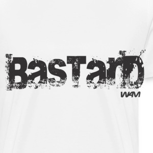 Blanc bastard black by wam Badges - T-shirt Premium Homme