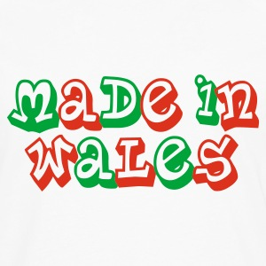 Made in Wales Men's T-Shirt White - Men's Premium Longsleeve Shirt