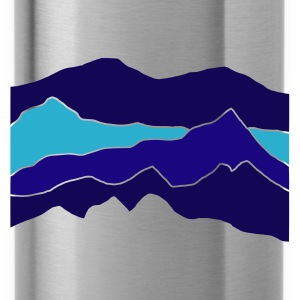Black/white mountains Bags  - Water Bottle