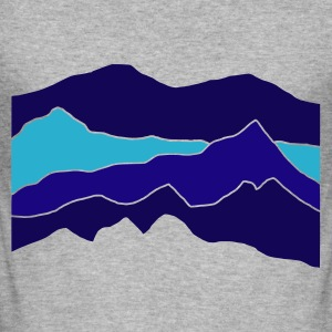 Blended grey mountains Jumpers  - Men's Slim Fit T-Shirt